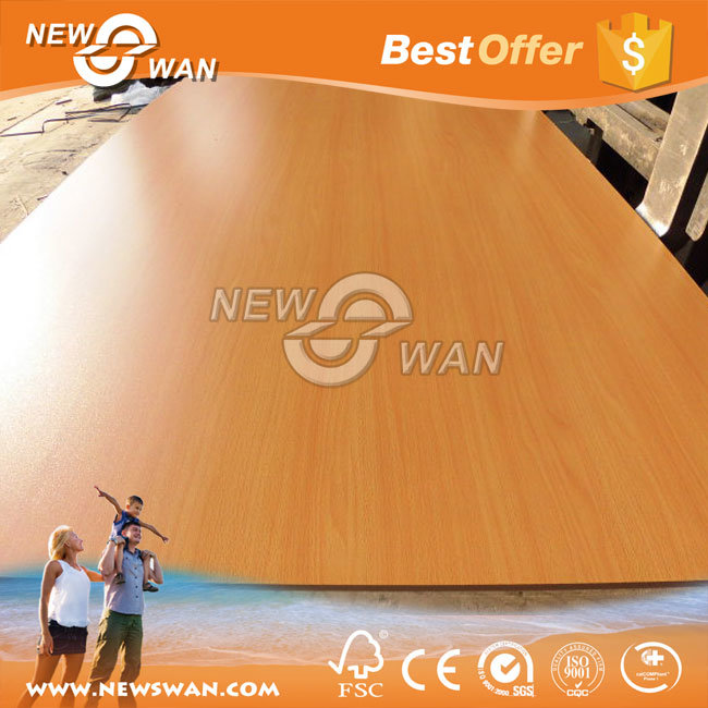 Embossed Melamine MDF Board Sheet / MDF Furniture Board