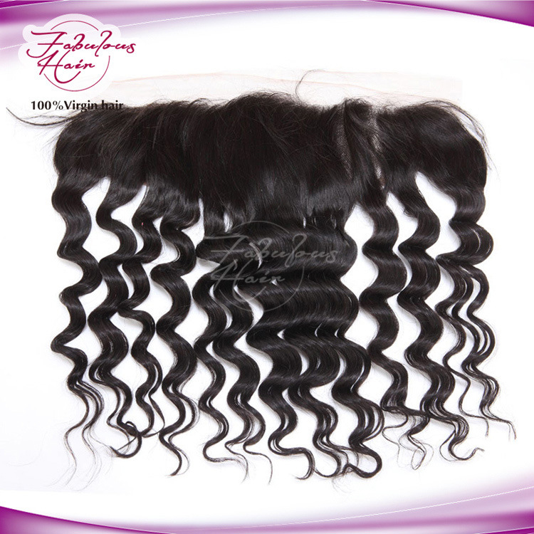 100% Virgin Hair Brazilian Loose Curly Lace Frontal