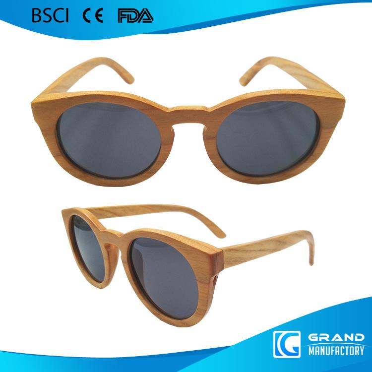 Classical Frame Cat UV400 Handmade Custom Wood Sunglasses
