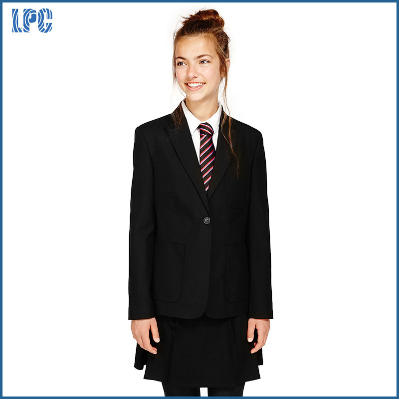 School Senior Girls Slim Fit Fashion Blazer
