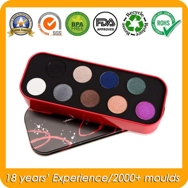 Metal Cosmetic Tin Box for Eye Shadow/Blusher/Fake Tan/Foundation