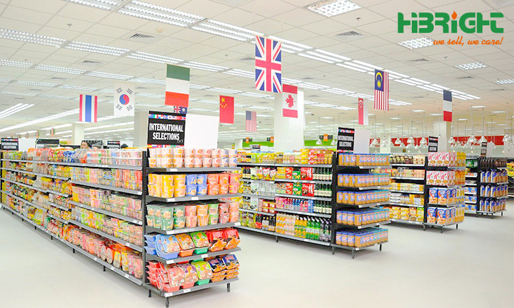 Metal Grocery Store Gondola Supermarket Shelf