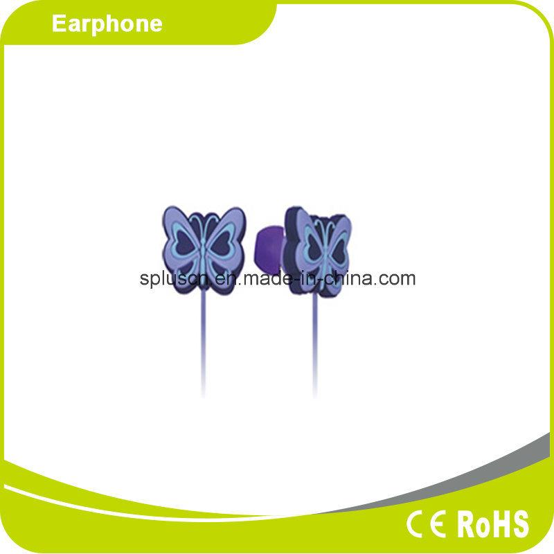 Interesting Gift Creative Butterfly Animal Design Cartoon in Ear Earphone