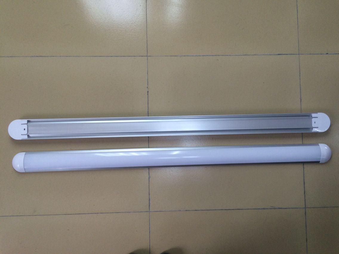 LED Dust Proof Wide Tube Light-Round Cap--36W-1.2m