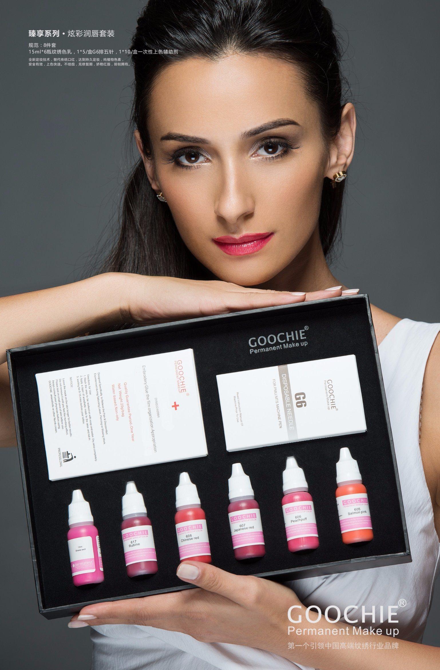 Goochie Lip Kit Permanent Makeup Tattoo Ink