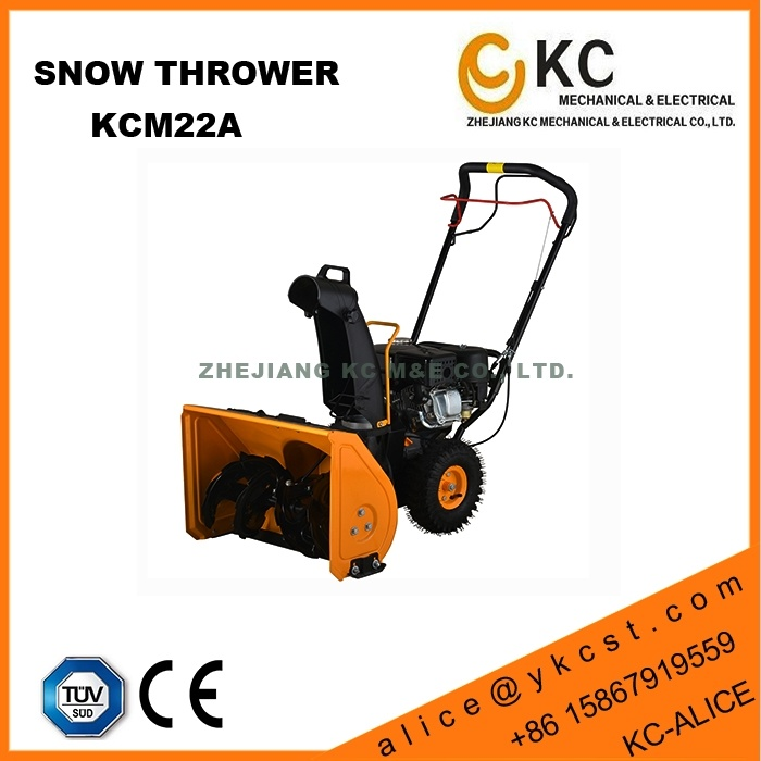 Hardworking Heavy Duty 9HP 252cc Petrol Snow Plow Thrower with Triangle Rubber Track for Sale Used in Winter