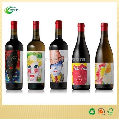 Custom Plastic Paper Vinyl Wine Label Stickers (CKT- LA-332)