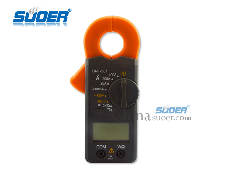 LCD Digital Multimeter 600V Clamp Meter (SNT301)