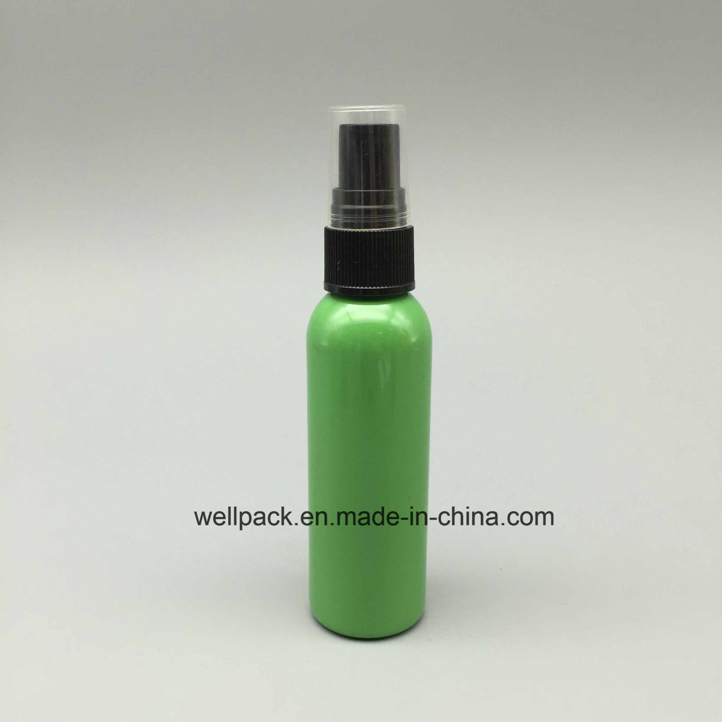 60ml Green Pet Plastic Bottle with Mist Sprayer