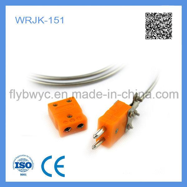 Wrjk-151 Non-Fixed Device Sheathed J Type Thermocouple with Couple Plug