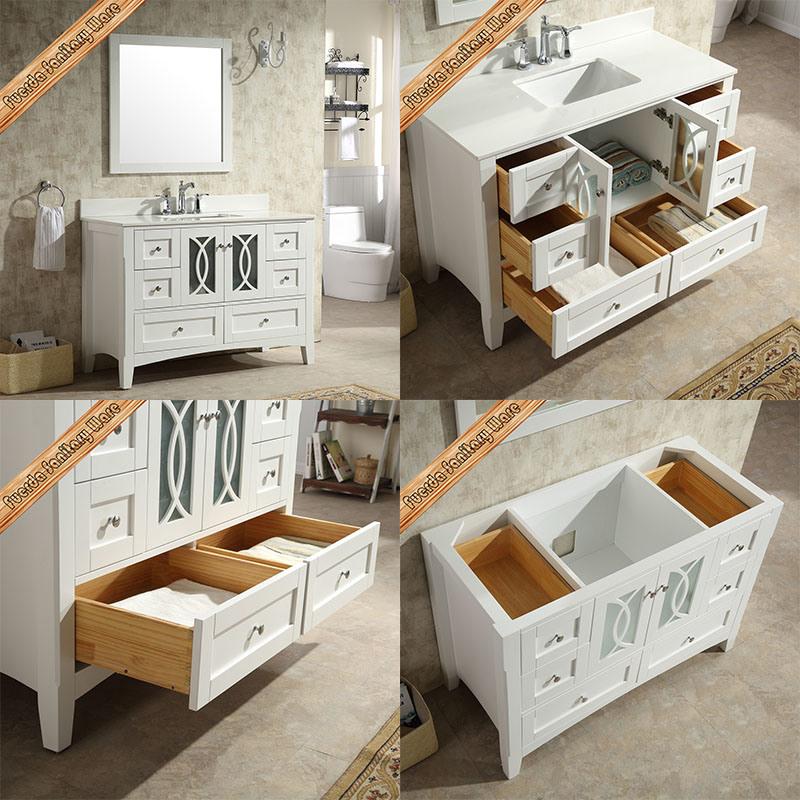 Fed-1976 Popular 48 Inch Cupc Sink Modern White Bathroom Cabinets