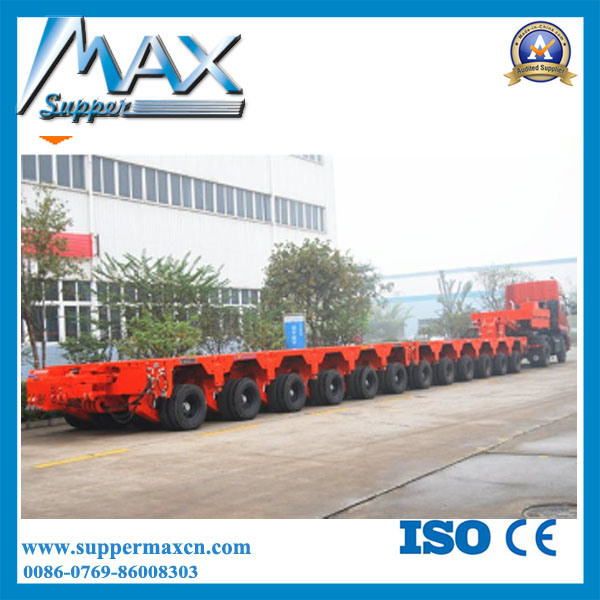 250 Ton Modular Low Bed Semi Trailer/4+6 Modules Trailer with Hydraulic Detachable Gooseneck