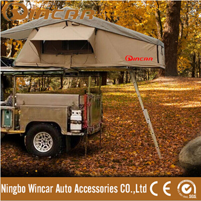Auto Waterproof Canvas Roof Top Tent with Annex