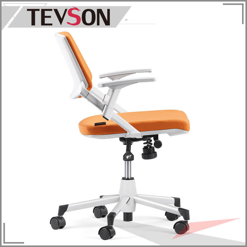 Modern Plastic and Fabric Staff Chair