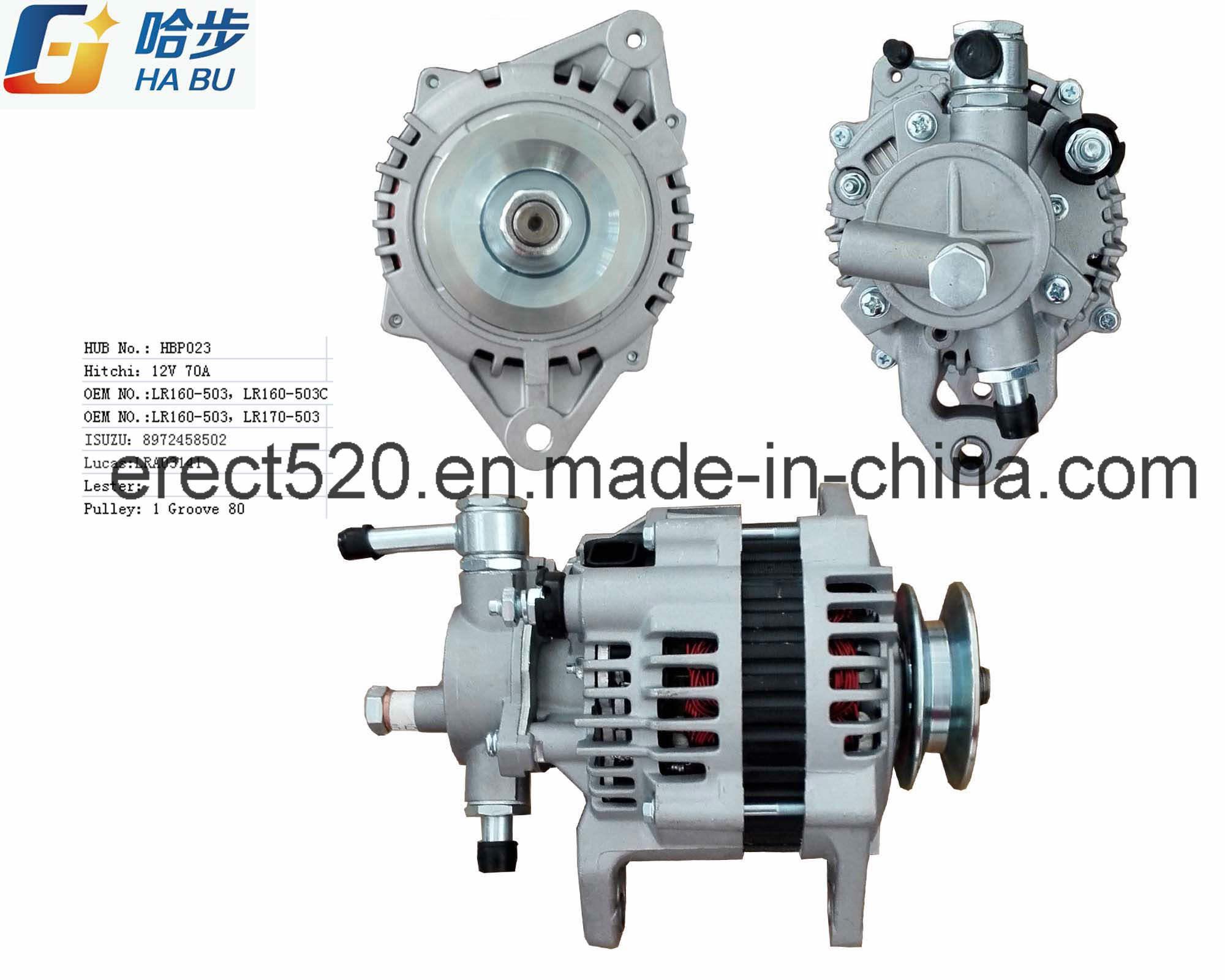 100% New 12V 80A Alternator Lr160-503 8972402702