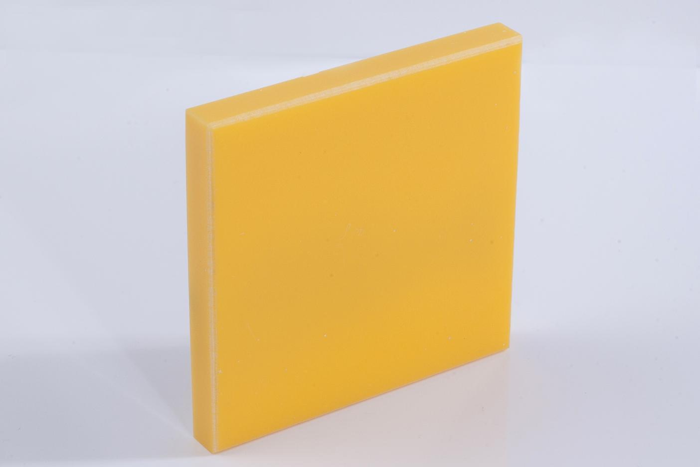 Pure Deep Yellow Decoration Materials Modified Acrylic Artificial Stone Bm8893