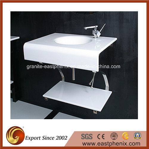 Natural Super White Nano Stone Sink for Bathroom