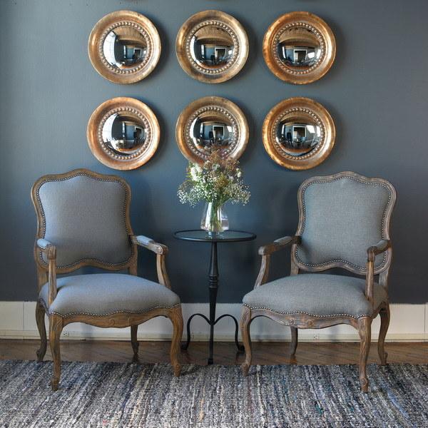 Hot Sales Mini Round Resin Framed Convex Decorative Mirrors