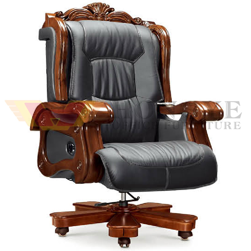Office Carving Royal Brown Black Executive Chair (HY-NNH-A7)