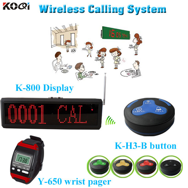 Guest Paging System Competitive Price Wireless Paging Kitchen K-800+Y-650+H3-B