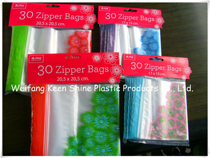 Reclosable Ziplock Poly Bag with Printing