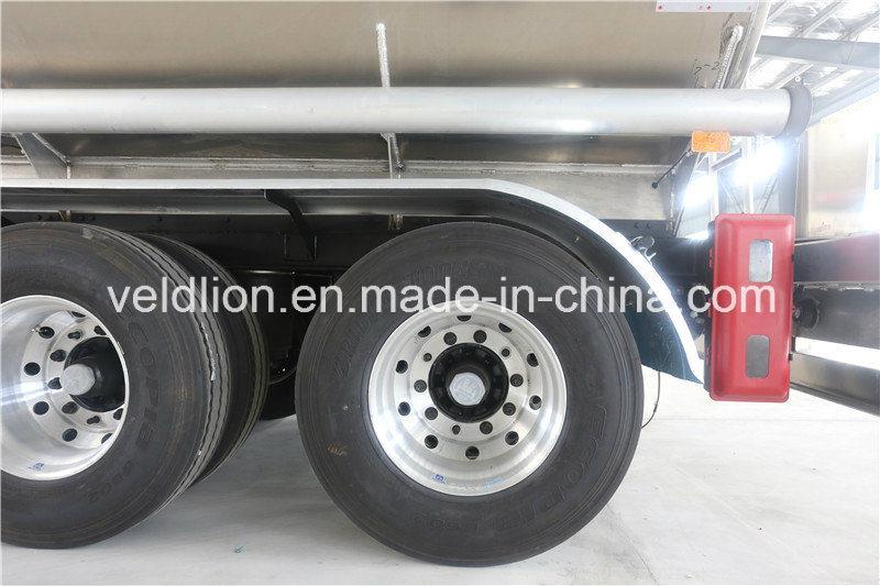 Aluminum Material 42000L Oil Tank Semi Trailer
