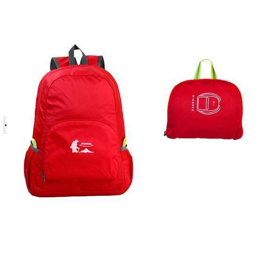Fashion Colorful Folding Backpack for Travel Sports Climbing Bicycle Bag
