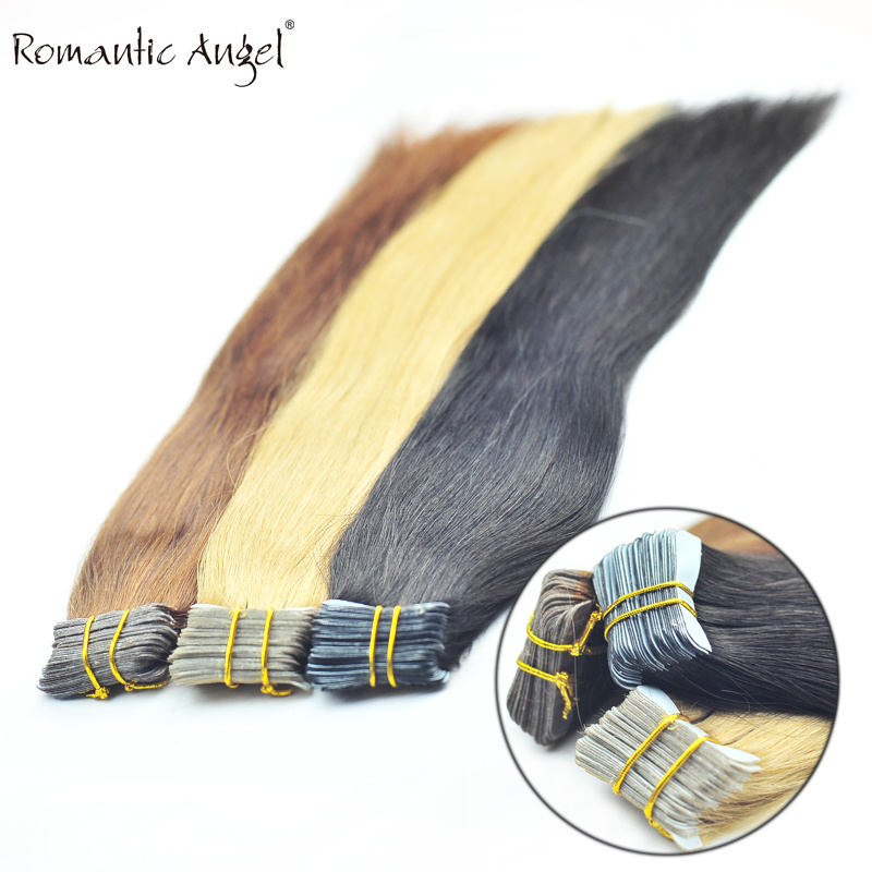 """40PCS 100g 18""""/24"""" 100% Classy Remy Indian Human Hair Skin Weft Hair Extensions Double-Sided Tape Blue Liner Seamless Invisible"""