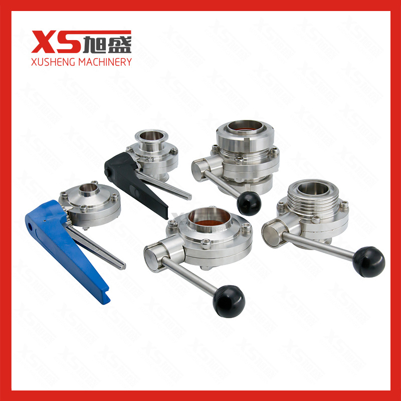 Stainless Steel SS304 Sanitary Butterfly Valves