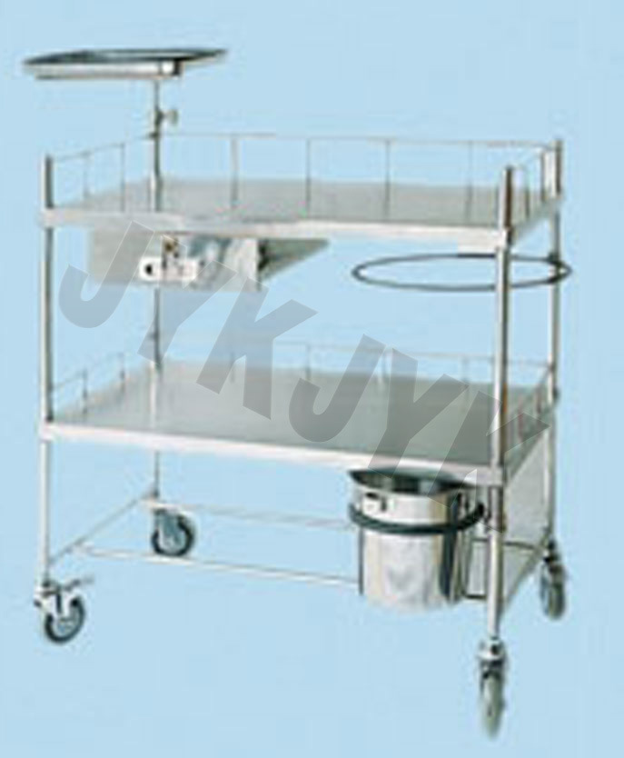 Stainless Steel Fan-Shaped Operation Apparatus Cart