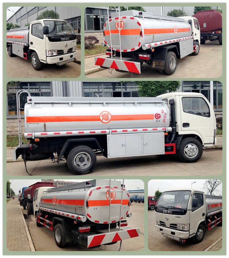 Small 4X2 Fuel Tank Trucks 5000 Liter for Sale