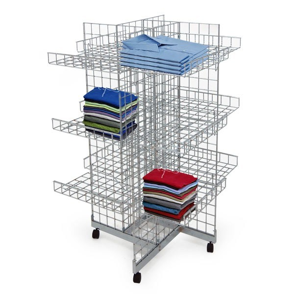 4 Sides Store Display Stand/Display Rack for Clothes Promotion