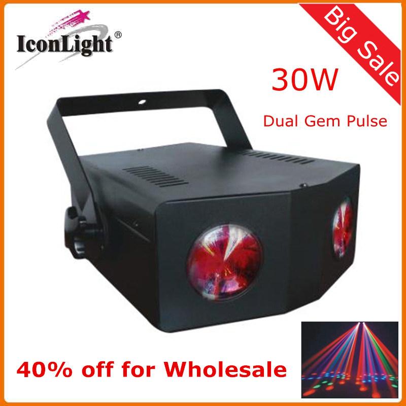 Wholesale Dual Gem Pulse LED Effect Light for Disco Party