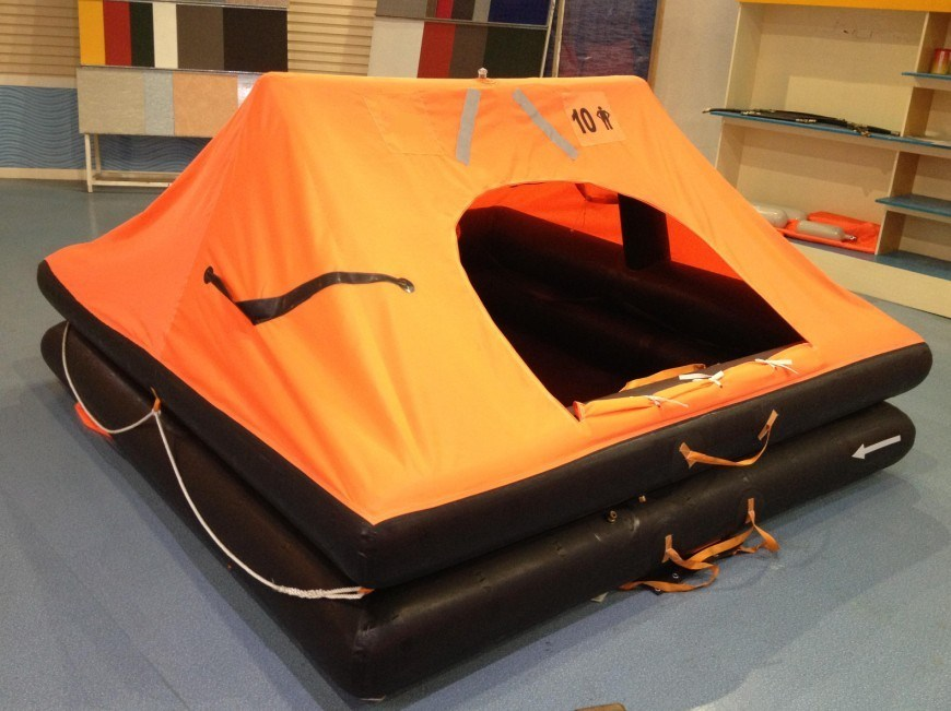 ISO Standard River Throw-Overboard Inflatable Life Raft