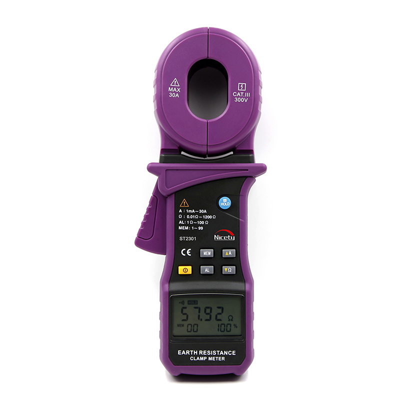 9999 Counts 0.01 ~ 1200 Ohm Earth Resistance Clamp Meter