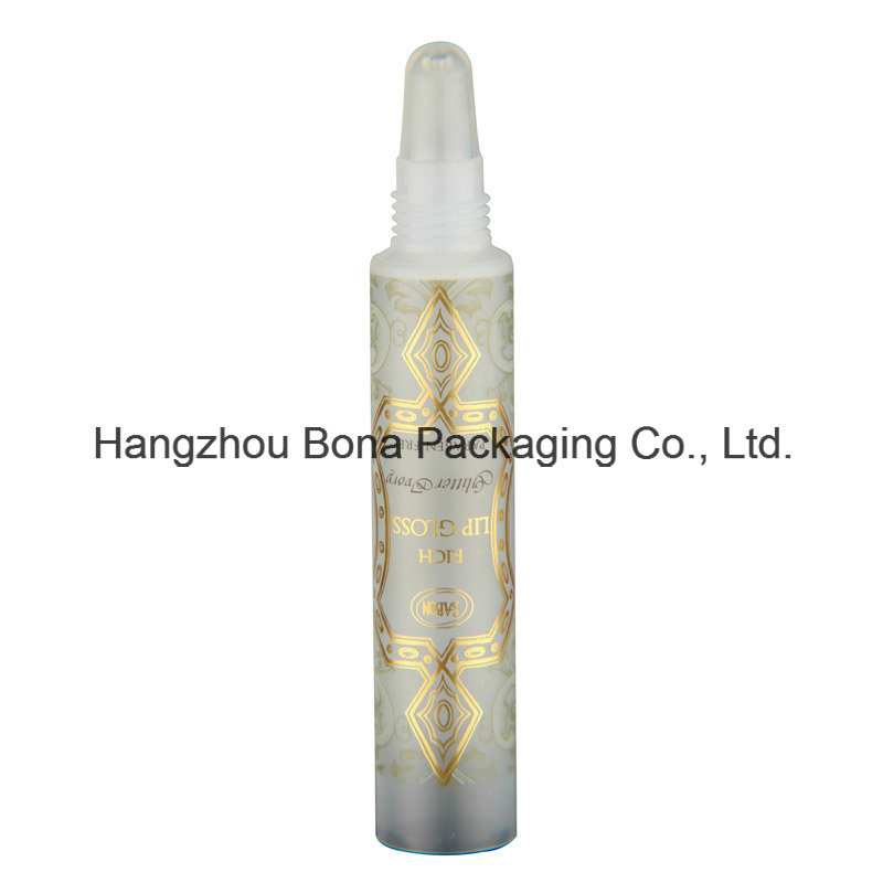 10ml Lip Gloss Plastic PE Soft Touch Tube with Silicone Head