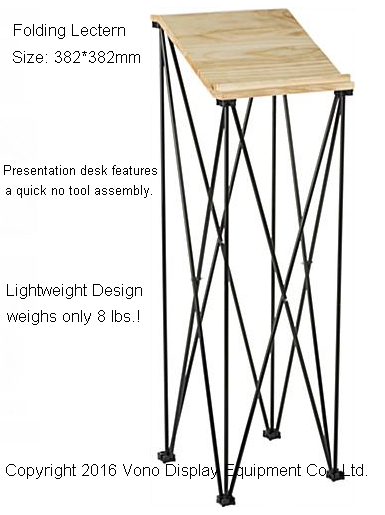 Trade Show Counter Portable Podium with Angled Reading Surface