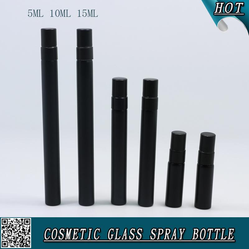 5ml 10ml 15ml Perfume Bottle Matte Black Colored Glass Spray Bottle Glass Vial