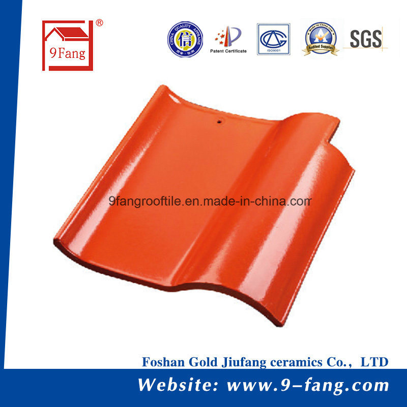 9fang Clay Roofing Tile Traditional Spanish Roof Tiles 260*260mm