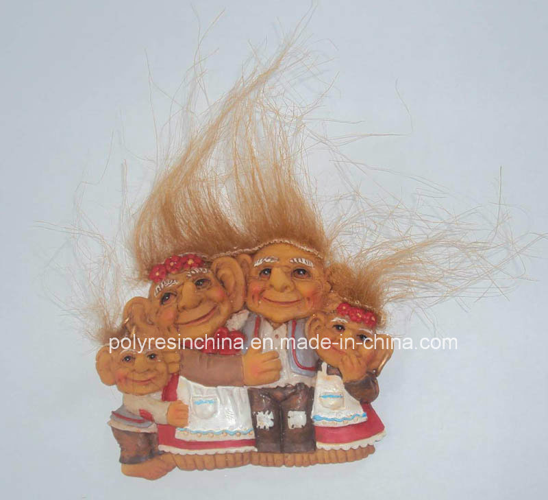 Polyresin Troll Family of Troll Crafts