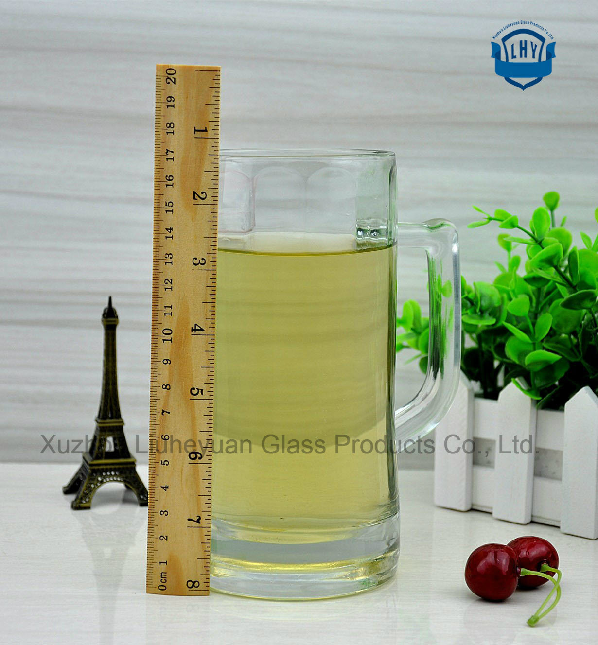600ml High Grade Glass, Beer Glass Cup with Handle