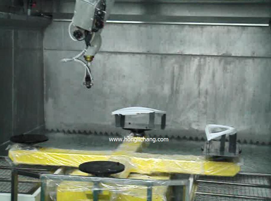 Turnkey Robot Automatic Spray Painting Plant for Auto Lamps