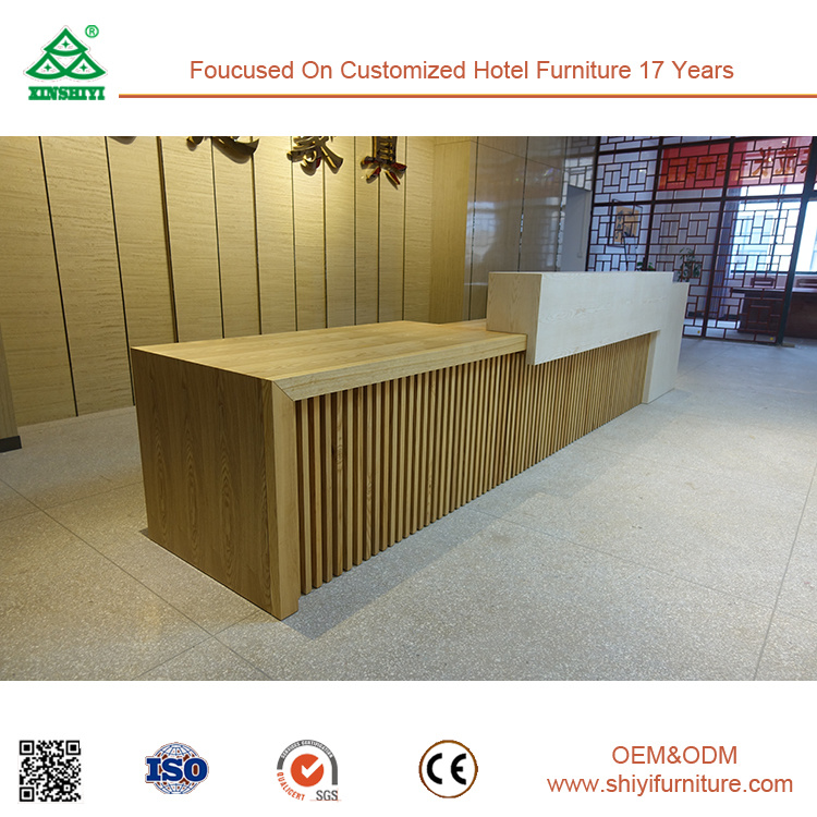 Mix-and-Match Color Hotel Reception Desk