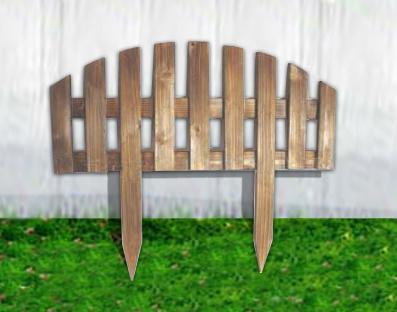 Vintage Outdoor Garden Wooden Fence for Garden Decoration