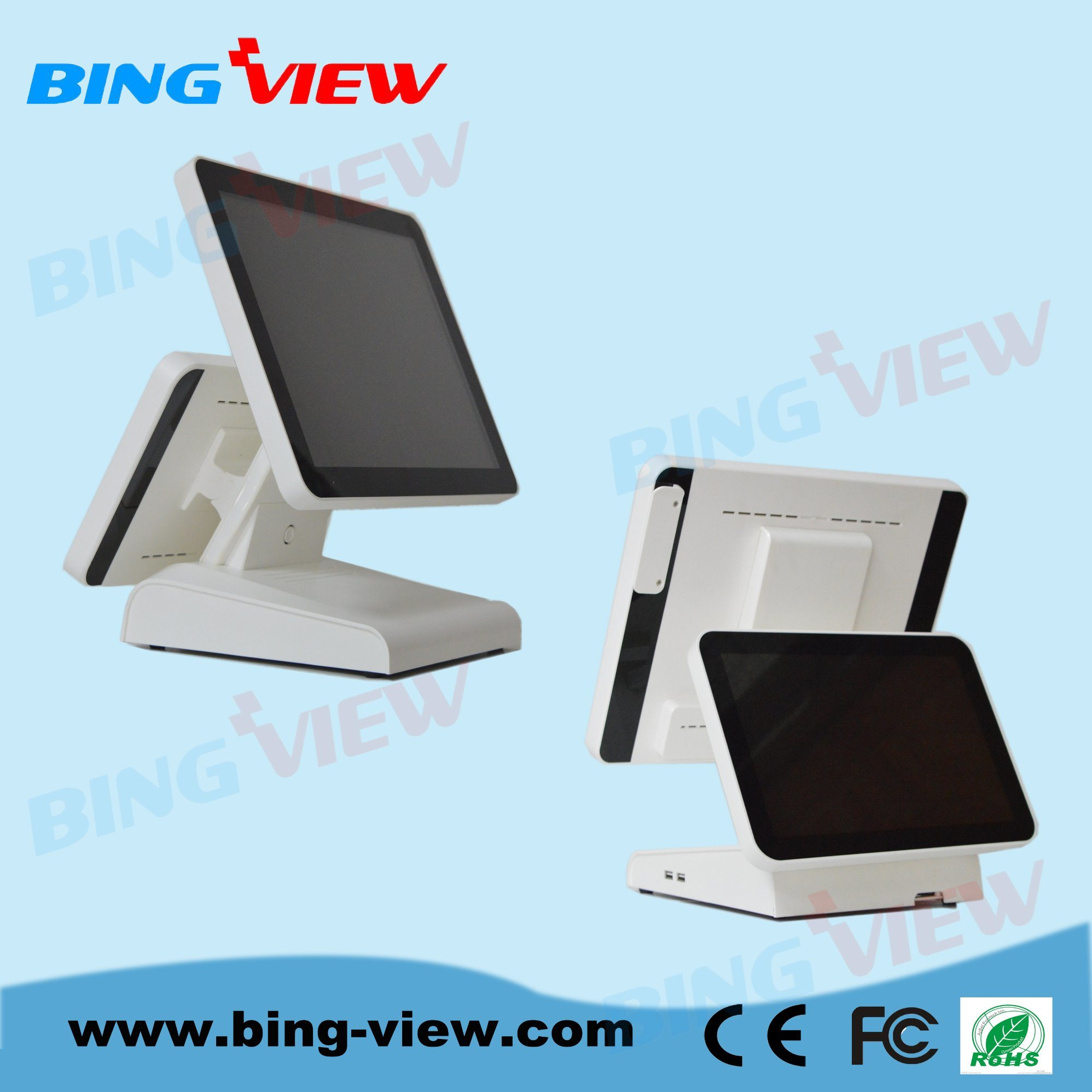 """15""""Resistive Point of Sales/POS Touch Screen Monitor with USB/RS232"""