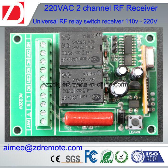 2channel 220V AC Wireless RF Remote Control Switch Radio Receiver