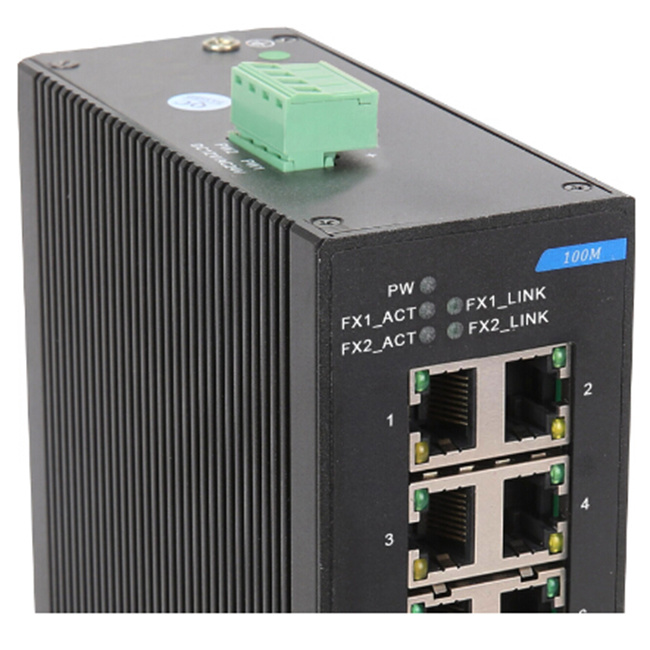 9 Megabit Port Dinrail Industrial Ethernet Network Switch