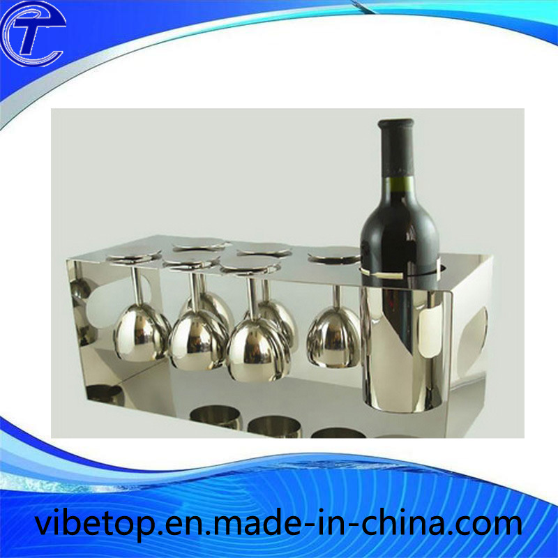 Hot Sale Wine Glass Cup Holder Stainless Steel Shelf (KS-006)