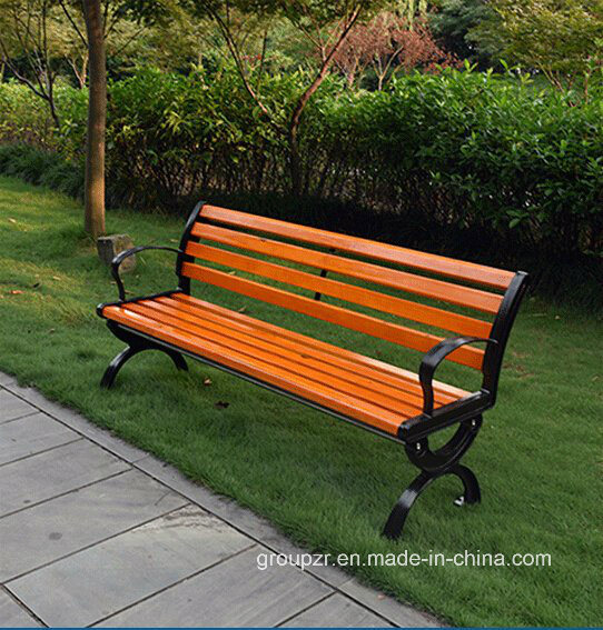 Garden Cast Iron Bench with Handrail and Backrest/ Park Bench