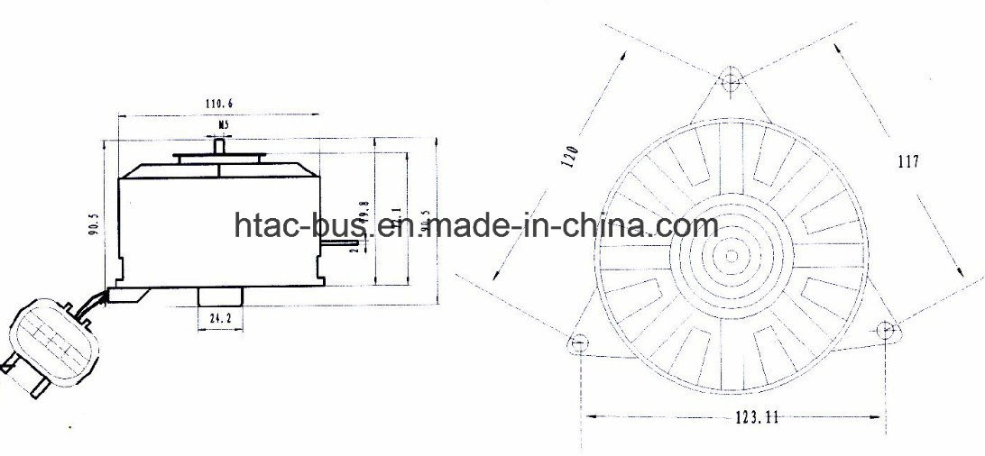Denso A/C Fan Motor 168000-6571 China Supplier